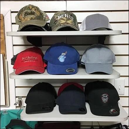 Embroidered Baseball Cap Shelf Display