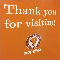 Popeyes Thank You For Visiting Door Decal Feature