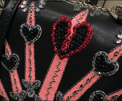 Beaded Rhinestone Valentino Purse Presentation