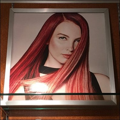 Salon Hairstyling Examples as In-Store Art