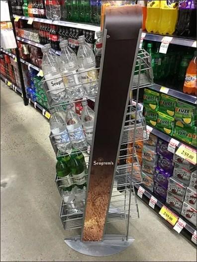 Gravity Feed Freestanding Seagrams Beverage Rack