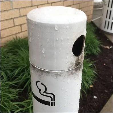 Slimline No Smoking Cigarette Butt Receptacle