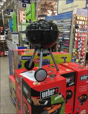 Weber Mini Grill Merchandising Display