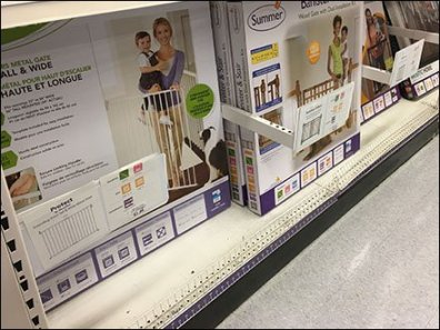 L-Shape Divider, Productstop, Sign-Holder Combo
