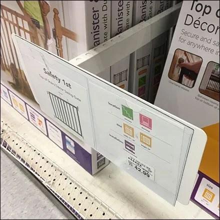L-Shape Divider, Productstop, Sign-Holder Combo