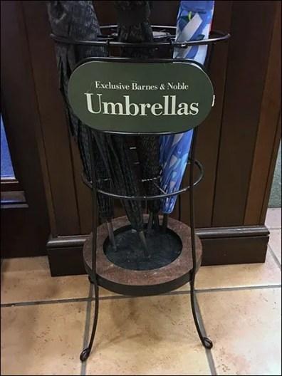 Exclusive Umbrella Rack at Barnes & Noble