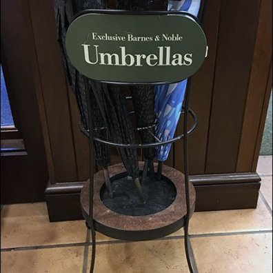 Exclusive Umbrella Rack at Barnes & Noble