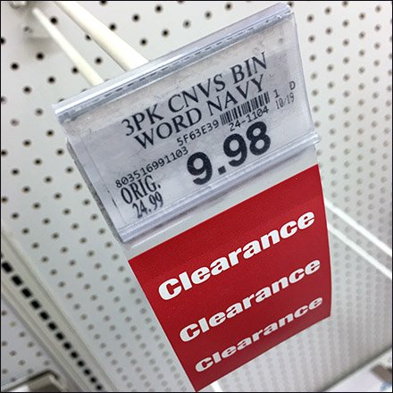 Clearance Bib Tag For Scan Hook Feature