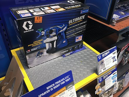 Diamond Plate Display Shelf For Sprayers