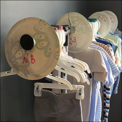 Do-It-Yourself Baby Clothes Size Dividers