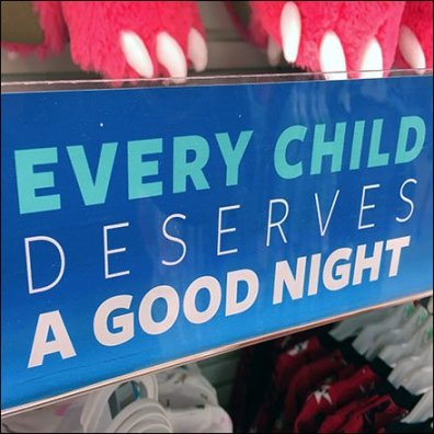 Donate PJs to Kids Shelf Talker Feature