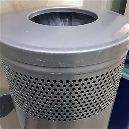 Double Perforated Decorator Waste Bin