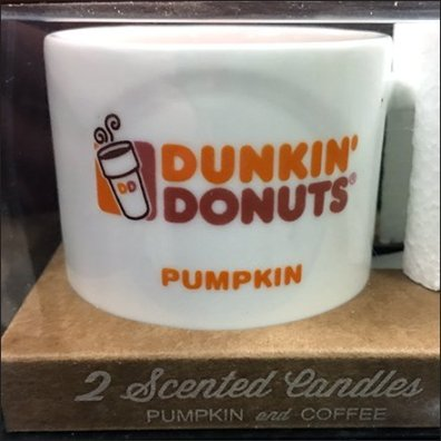 Coffee Scented Candles In Dunkin Donuts Mugs