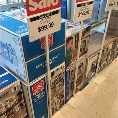 Freestanding Floorstand Sale Sign Triplets