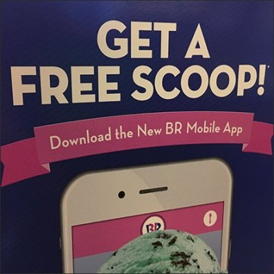 Free Ice Cream Mobile App Door Decal Feature