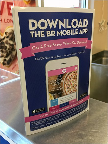 Free Ice Cream Mobile App Tri-Fold Promo