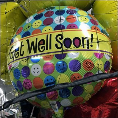 Get Well Soon Inflatable Balloon Alternative