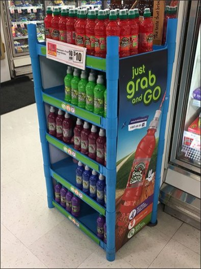 Grab and Go Fruit Shoot Shelf Stand