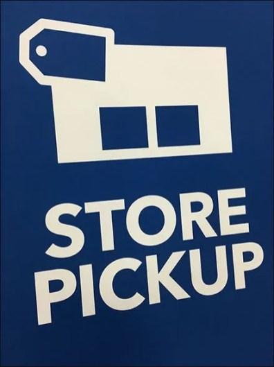 In-Store Order Pickup Easel At Best Buy