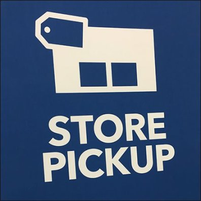 In-Store Order Pickup Easel At Best Buy Feature