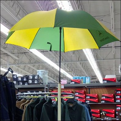 John Deere Branded Umbrella Floorstand Focus