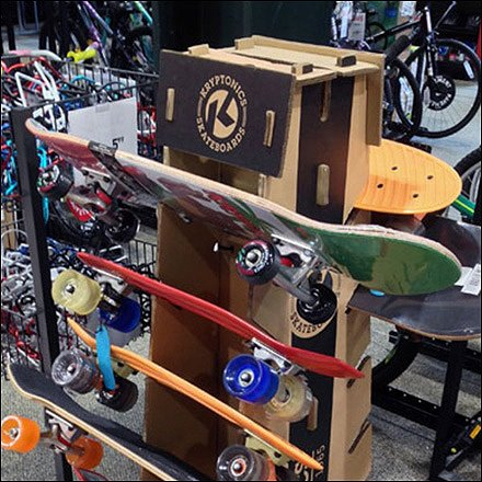 Kryptonics Skateboard Display POPON Feature
