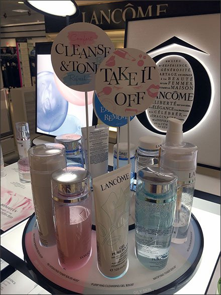Take It Off Lancome Cleanse Sign Stand
