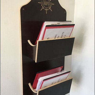 Plywood Literature Holder For Plywood Showroom