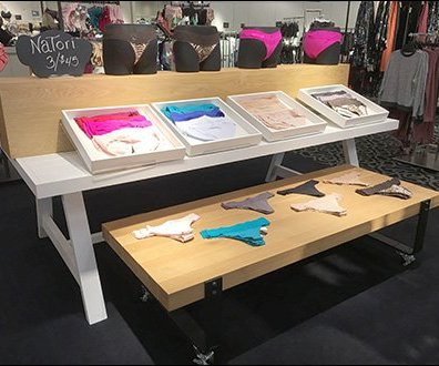 Wheeled Table Panty Display by Natori