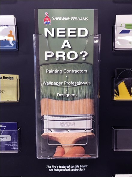 Need A Pro Business Card Wall Rack Aux