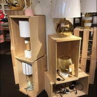 Nordstrom Stacked Wood Crate Display 3