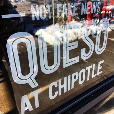 Not Fake News Chipotle Queso