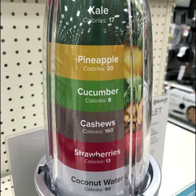 NutriBullet Color Coded Ingredient Insert