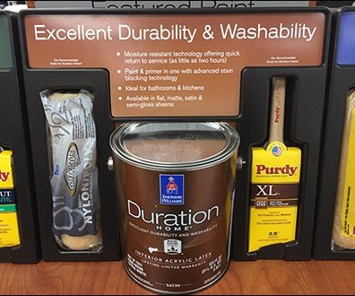 Paint Definition Endcap Display by Sherwin Williams 2