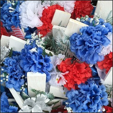 Patriotic Crosses and Memorial Candle Merchandising