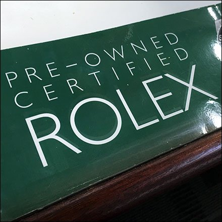 Pre-Owned Certified Rolex Guarantee Feature