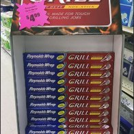 Reynolds Wrap Grill-Like Display Disguise
