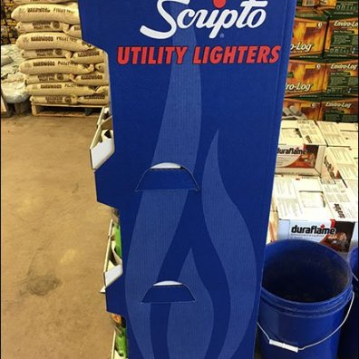 Scripto Aim N Flame Utility Lighter Display