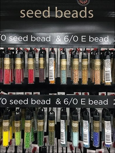 Gravity Feed Ganged Hook Display For Beads