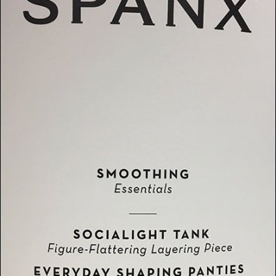 Slim Spanx Sign Freestanding Branding