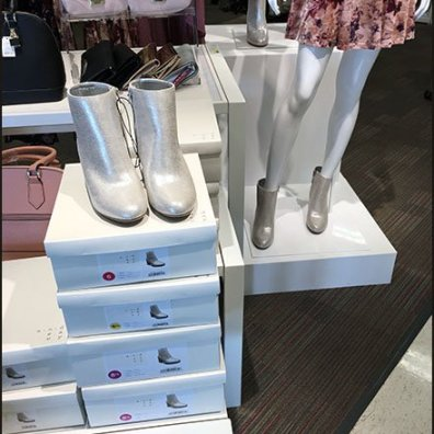 Grab-and-Go Shoe Display at Target