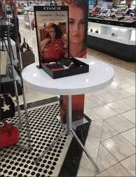 Tripod Cosmetic Table Support by Coach