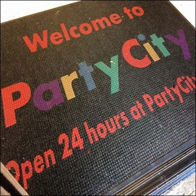 Welcome to Party City Online Entry Mat Feature