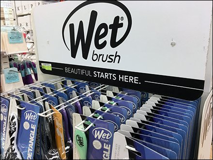 Wet Brush Double-Sided Freestanding Display