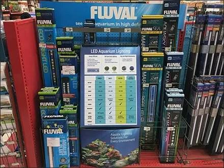 Aquarium LED Light Color Coding by Fluval