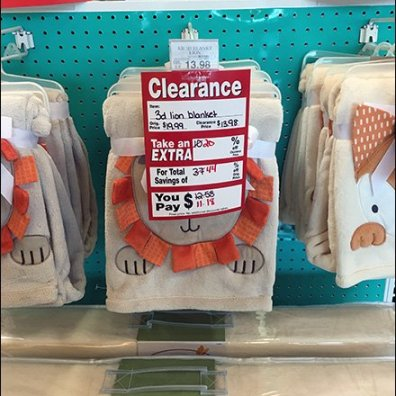 Oversize Clearance Bib Tag For Scan Hook