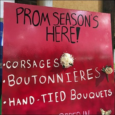 Boutonniere and Coursage Grab-and-Go Feature