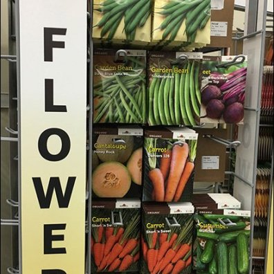 Burpee Seeds Twin Spinner Endcap Towers