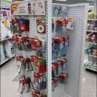 Command Strip Mobile Pegboard Display