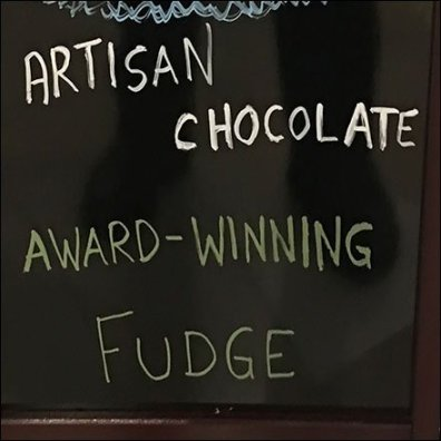 Free Artisan Chocolates Chalkboard Easel FEATURE